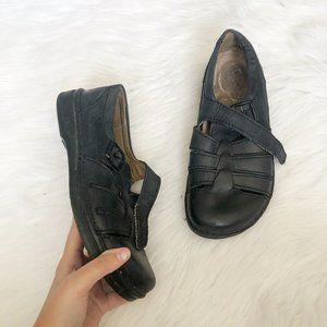 BIRKENSTOCK Rare Fisherman Black Sandal SZ 40
